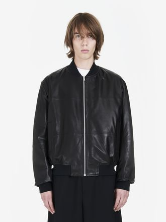 MA1 Leather Bomber Jacket