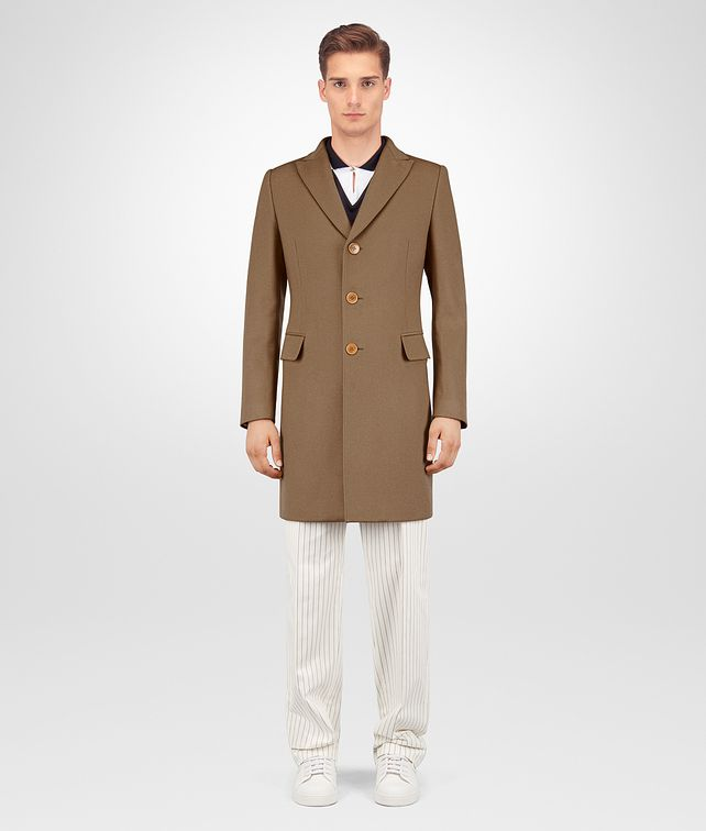 BOTTEGA VENETA CAMEL WOOL CASHMERE COAT Outerwear and Jacket Man fp