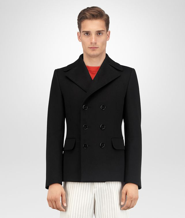 BOTTEGA VENETA NERO WOOL CASHMERE JACKET Outerwear and Jacket Man fp