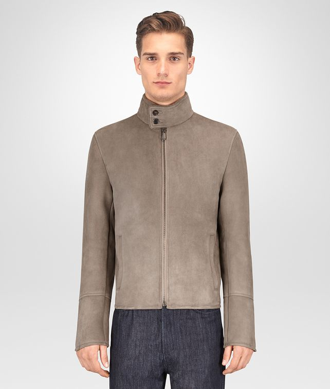 BOTTEGA VENETA LIMESTONE SHEARLING JACKET Outerwear and Jacket Man fp