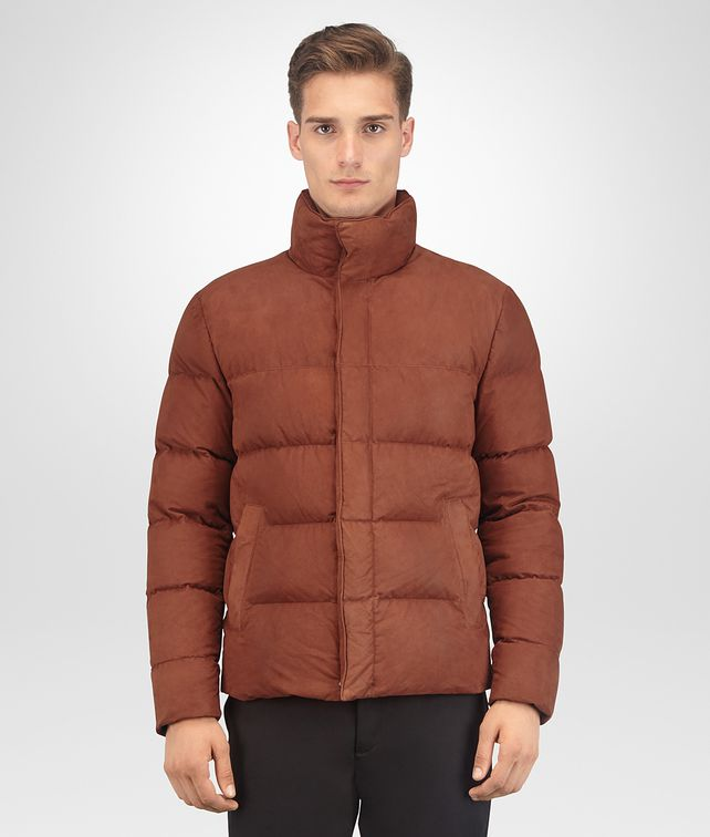 BOTTEGA VENETA CALVADOS LAMB NABUK JACKET Outerwear and Jacket Man fp