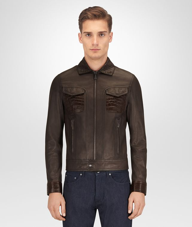 BOTTEGA VENETA ESPRESSO CALF JACKET Outerwear and Jacket [*** pickupInStoreShippingNotGuaranteed_info ***] fp
