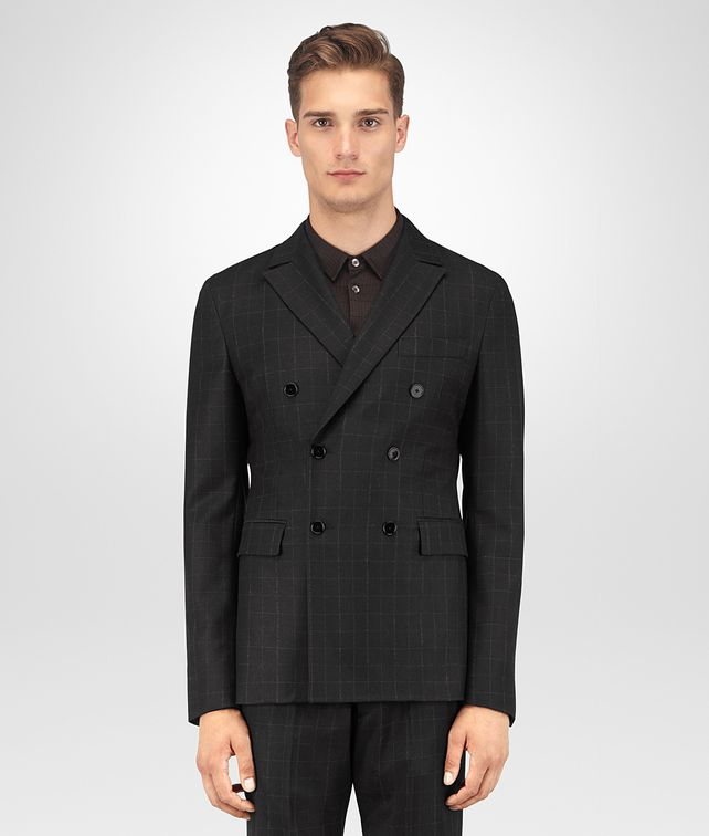BOTTEGA VENETA NERO WOOL FLANNEL JACKET Outerwear and Jacket Man fp