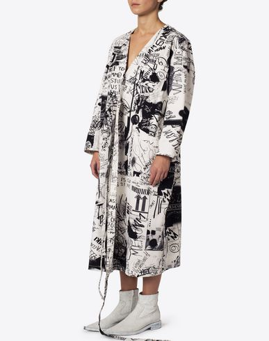 MM6 MAISON MARGIELA Full-length jacket Woman Printed oversized 'blouse blanche' f