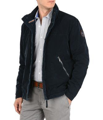 NAPAPIJRI ALBOX MAN SHORT JACKET,DARK BLUE