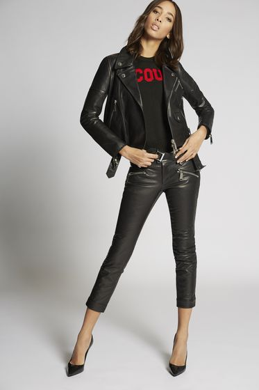 DSQUARED2 Leather outerwear Woman S75AM0515SX8131900 m