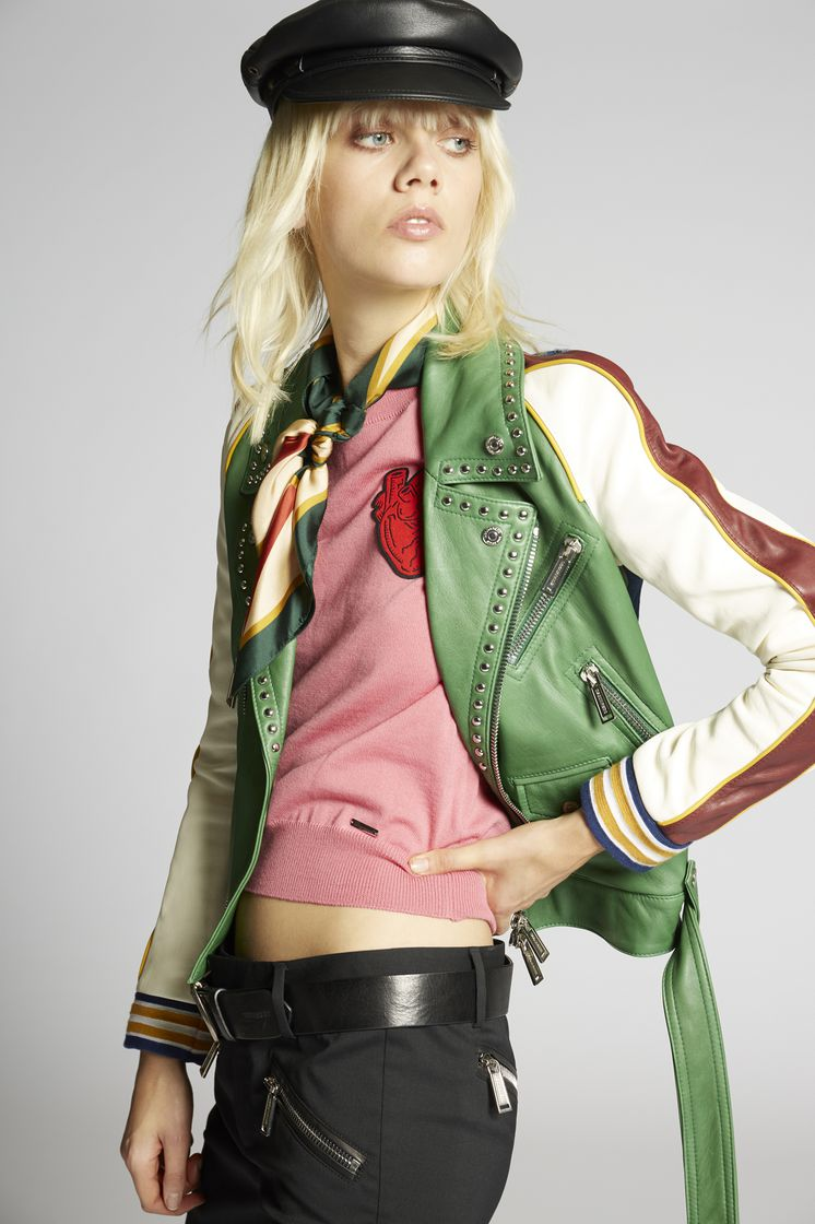 DSQUARED2 S75AM0554SY0937961 Leather outerwear Woman m