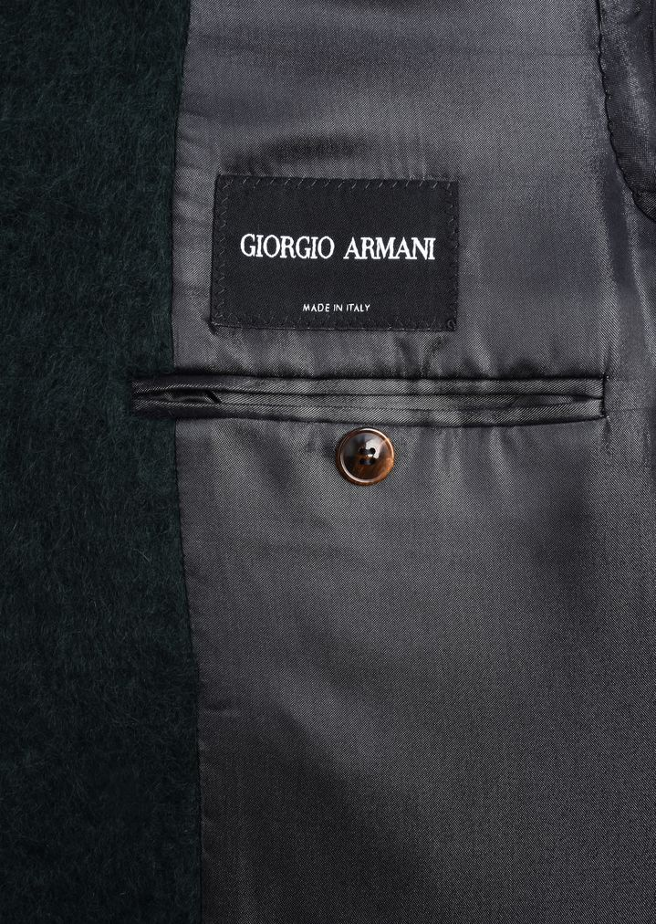 GIORGIO ARMANI Double-breasted coat in wool and mohair Classic Coat Man b