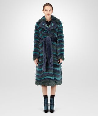 MULTICOLOR SHEARLING COAT