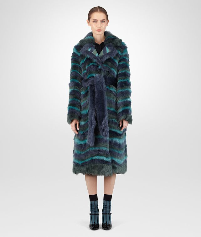 BOTTEGA VENETA MULTICOLOR SHEARLING COAT Coat or Jacket D fp