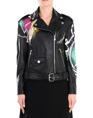 BOUTIQUE MOSCHINO Leather outerwear Woman r