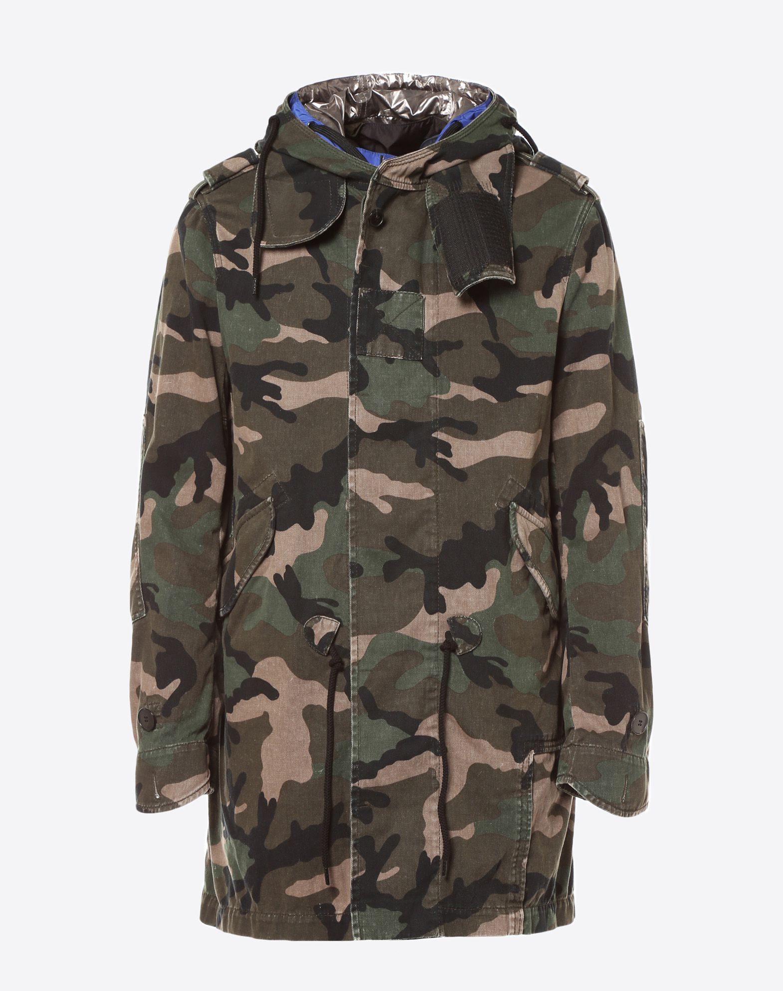 VALENTINO Camouflage Flashes Fully lined Rear slit Buttoned cuffs Long sleeves Two pockets Button, zip Canvas  41770950mr