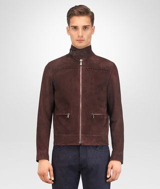 DARK BAROLO LAMB SUEDE JACKET