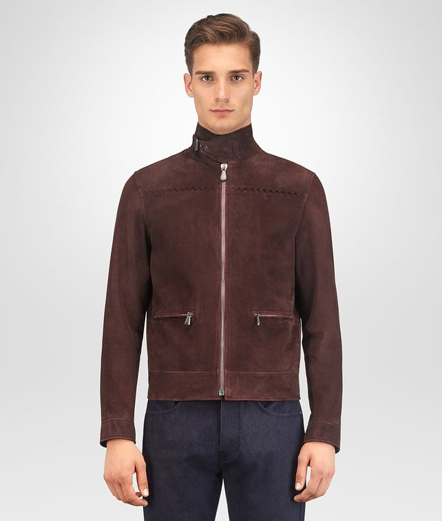 BOTTEGA VENETA DARK BAROLO LAMB SUEDE JACKET Outerwear and Jacket [*** pickupInStoreShippingNotGuaranteed_info ***] fp