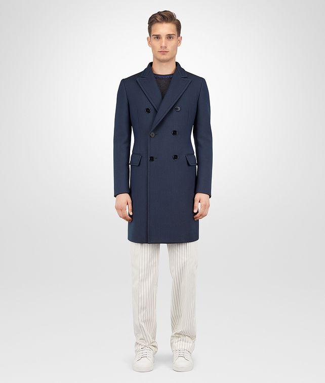 BOTTEGA VENETA DARK NAVY WOOL COAT Outerwear and Jacket Man fp