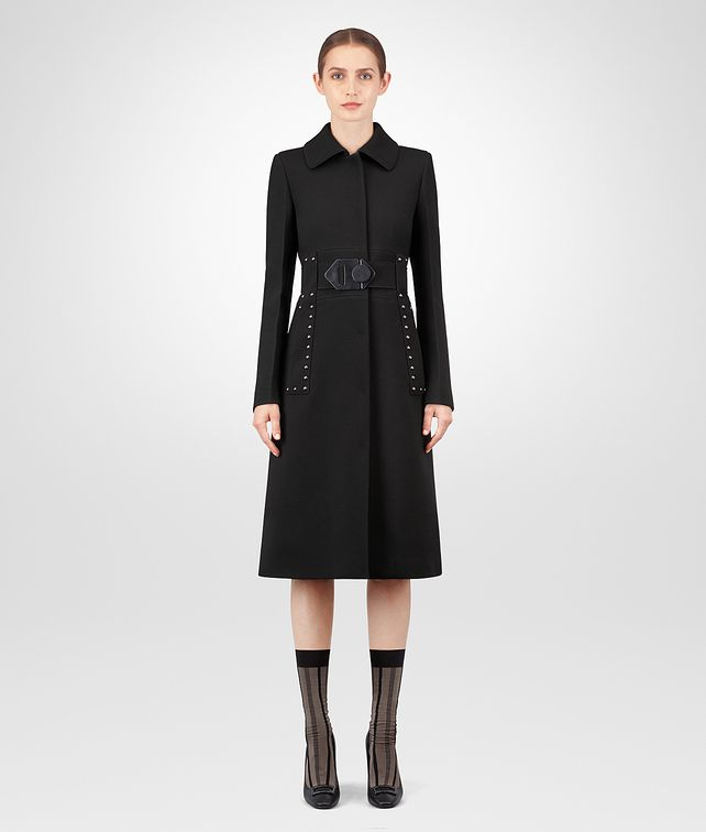 BOTTEGA VENETA NERO WOOL COAT Outerwear and Jacket [*** pickupInStoreShipping_info ***] fp