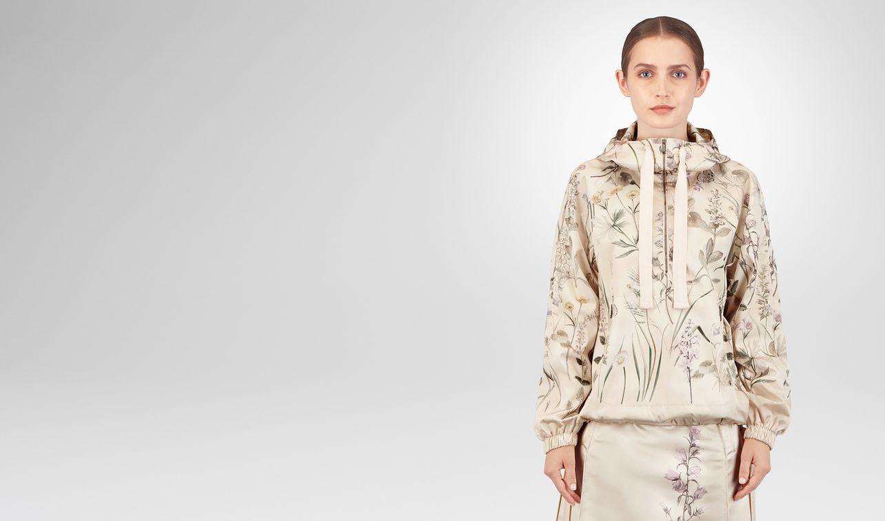 botanical print polyester jacket landing