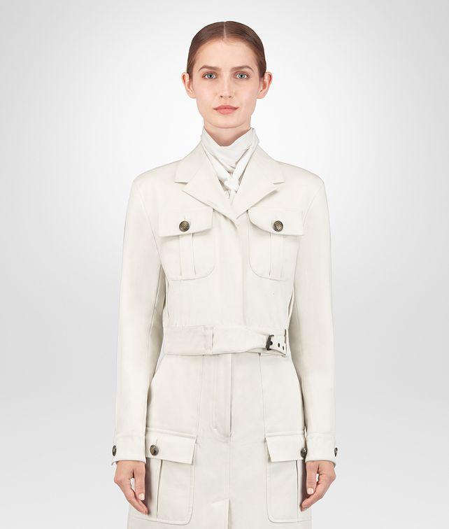 BOTTEGA VENETA GIACCA IN COTONE LATTE Outerwear e giacca [*** pickupInStoreShipping_info ***] fp