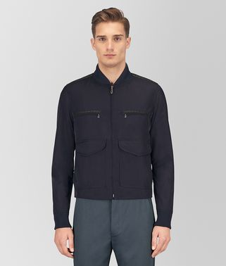 DARK NAVY POLYESTER JACKET