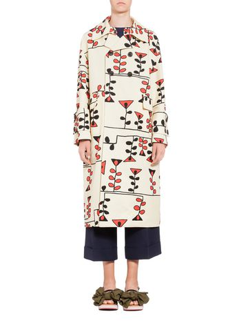 Marni Duster coat in canvas Paint print Woman