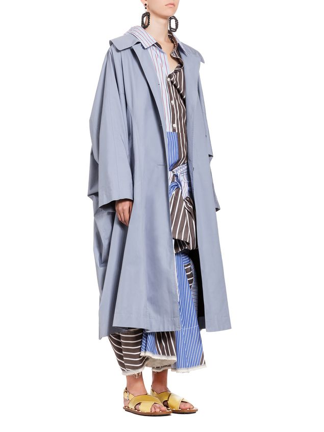 Marni Duster coat in compact cotton reps Woman - 5