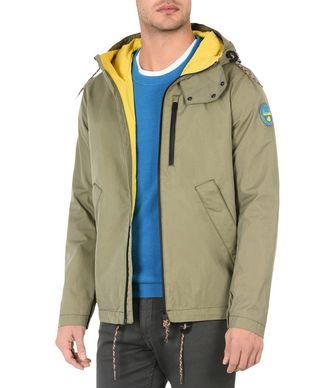 NAPAPIJRI ALPA MAN SHORT JACKET,MILITARY GREEN
