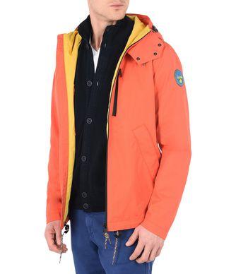 NAPAPIJRI ALPA メンズ ショートジャケット,オレンジ
