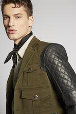 DSQUARED2 Contrasted Leather Jacket JACKET/BLAZER Man