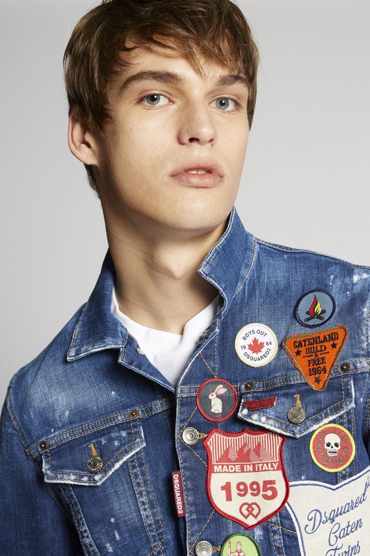 DSQUARED2 Scout Patch Denim Jacket Denim outerwear Man