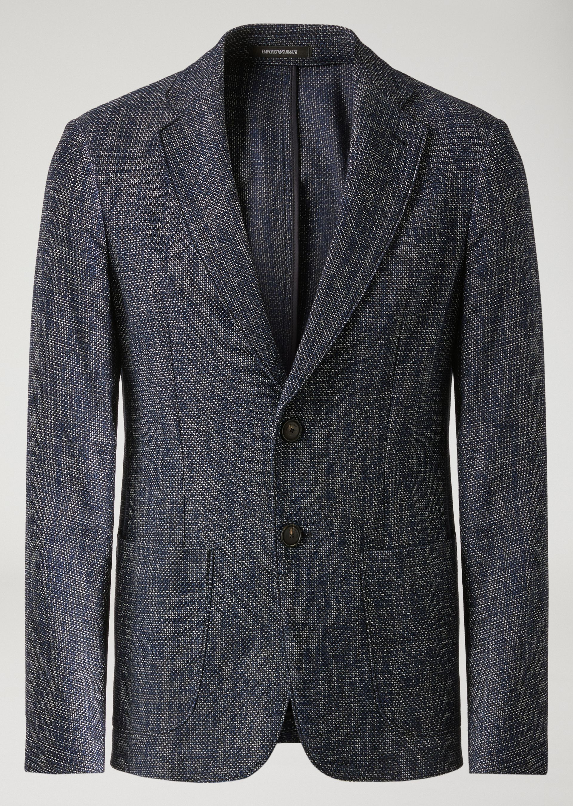 ... EMPORIO ARMANI HALF-LINED JACKET IN CREPE Casual Jacket U r ...