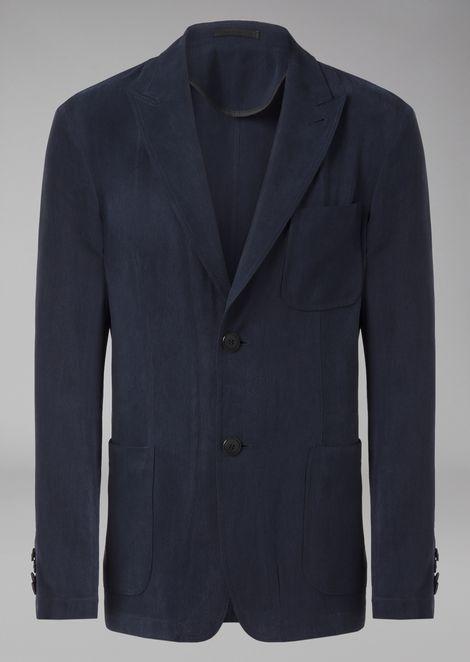 Jacket in cupro