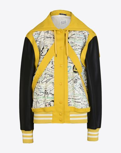 MAISON MARGIELA Jacket D Cut-out letterman jacket f