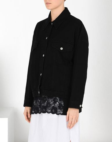 MM6 MAISON MARGIELA Jacket Woman Boxy black denim jacket f