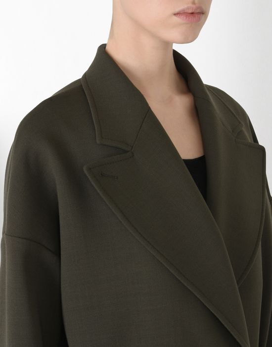 MM6 MAISON MARGIELA Short wool twist-tie jacket Full-length jacket Woman a