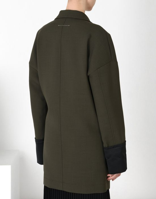 MM6 MAISON MARGIELA Short wool twist-tie jacket Full-length jacket Woman d