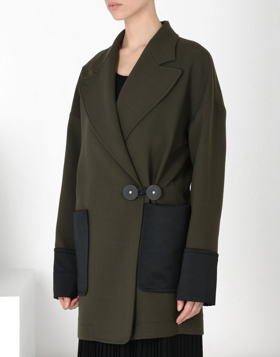 MM6 MAISON MARGIELA Short wool twist-tie jacket Full-length jacket Woman f