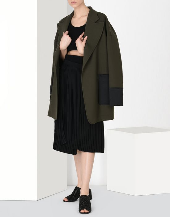 MM6 MAISON MARGIELA Short wool twist-tie jacket Full-length jacket Woman r