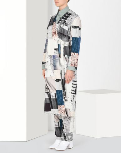 "MM6 MAISON MARGIELA Coat Woman Patchwork denim ""blouse blanche"" f"
