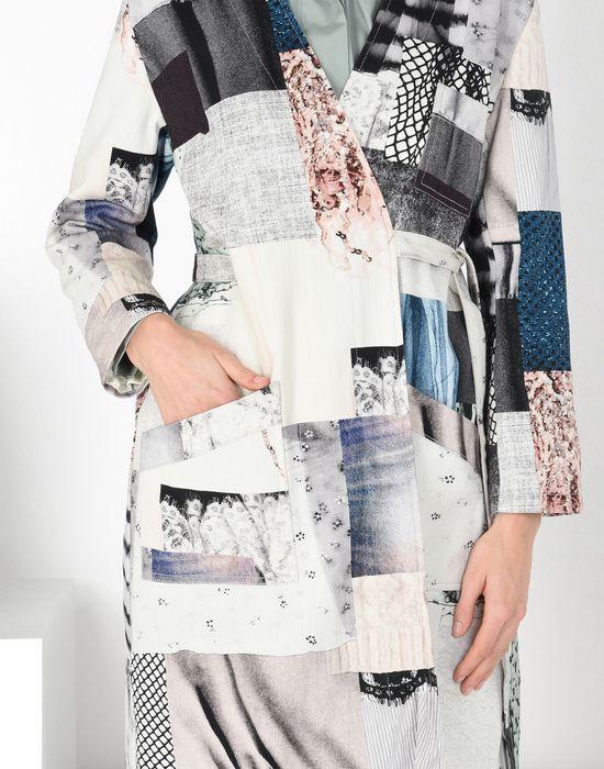 MM6 MAISON MARGIELA Блуза-халат из джинсовой ткани в стиле пэчворк Пальто [*** pickupInStoreShipping_info ***] a