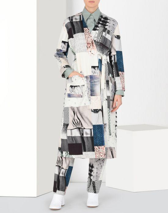MM6 MAISON MARGIELA Блуза-халат из джинсовой ткани в стиле пэчворк Пальто [*** pickupInStoreShipping_info ***] r