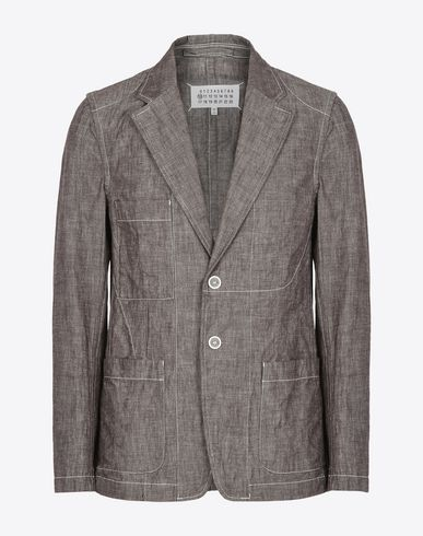 MAISON MARGIELA Blazer U Cotton blazer with stitch details f
