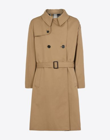 MAISON MARGIELA Raincoat U Trench with check cut-out f