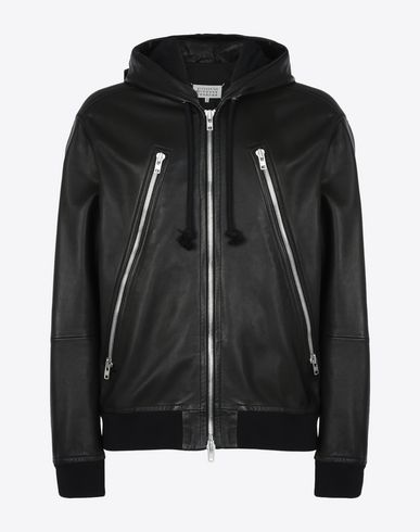 MAISON MARGIELA Leather Jacket U Leather hoodie f