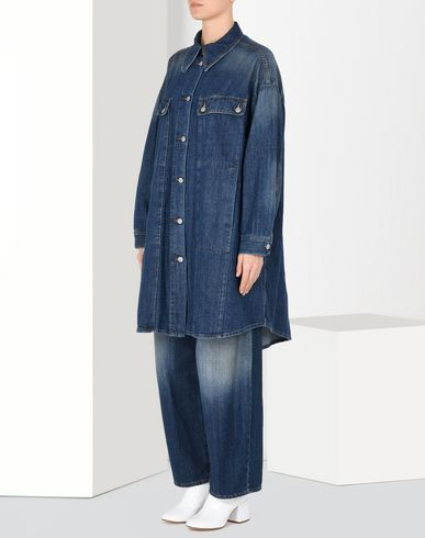 MM6 MAISON MARGIELA Coat Woman Oversized denim jacket f