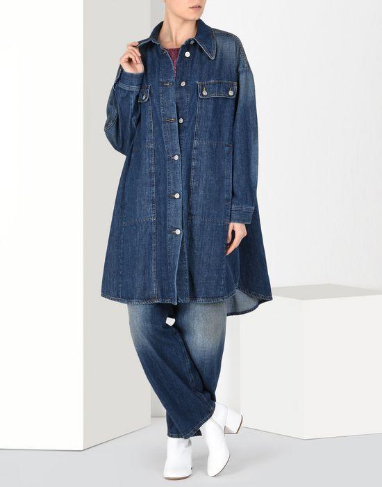 MM6 MAISON MARGIELA Veste en denim extra-large Manteau long Femme r