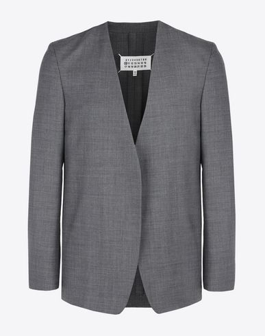 MAISON MARGIELA Blazer U Collarless virgin wool blazer f