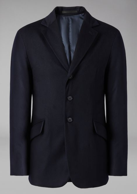 Cashmere jacket with cashmere padding