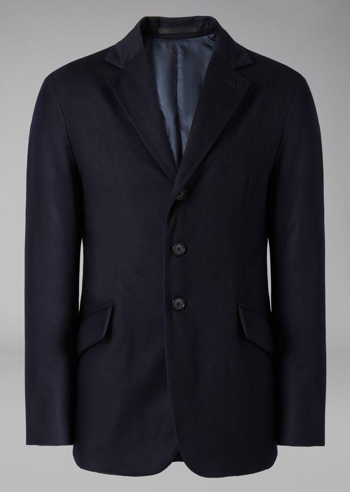 0d55ae61797d7 Cashmere jacket with cashmere padding   Man   Giorgio Armani