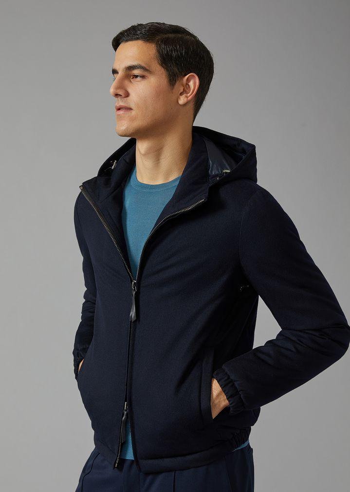 859164a1a163 Cashmere blouson with cashmere padding   Man   Giorgio Armani
