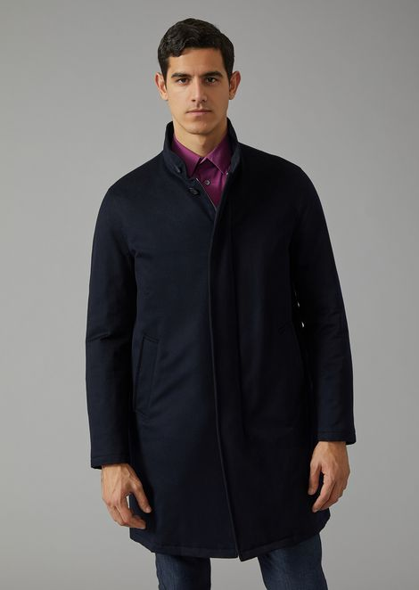 Cashmere coat with cashmere padding